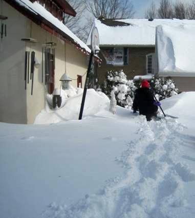 Hip-Deep in Wisconsin Snow