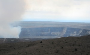 Halema'uma'u Crater within the Kilauea Caldera