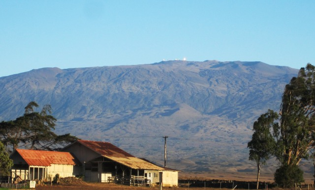 Mauna Kea with observatories