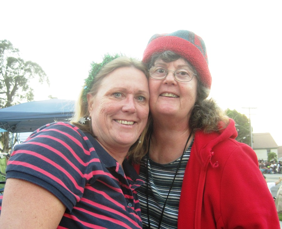Stacy and me at parade