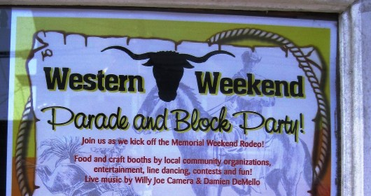 Western week sign - add a chicken rodeo