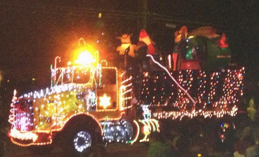 lit up truck