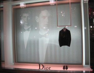 Minimalist Dior display window