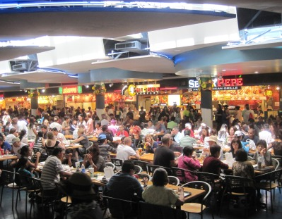 Partial view of Ala Moana Center's food court: 31 vendors.