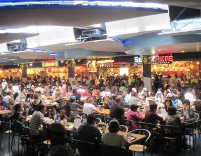Partial view of Ala Moana Center's food court: 31 vendors.