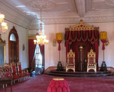 Iolani Palace throne room.
