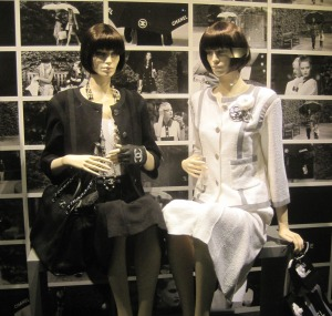 Coco Chanel Suit updated for today in Chanel window display