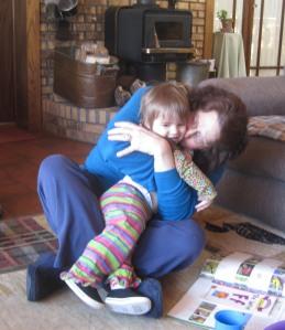 Nana hugs Sonya