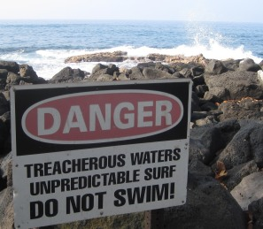 danger treacherous water