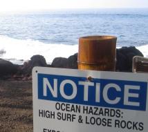 sign ocean hazards