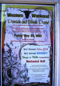 Western week sign