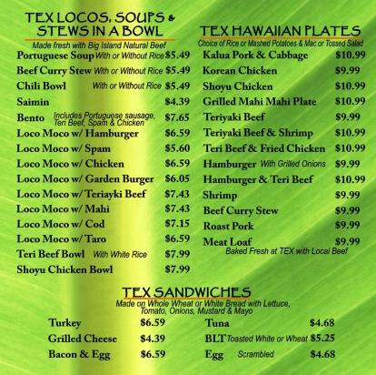 Tex-menu