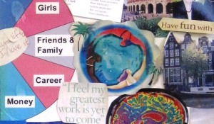 Women's circle on vision board 2008