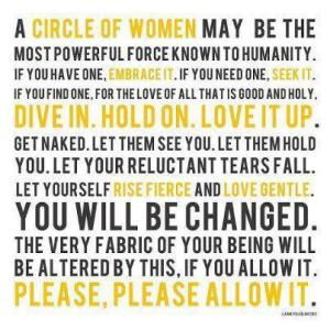 Women's circle saying