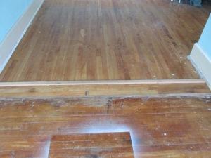 Wood floors before refinishing