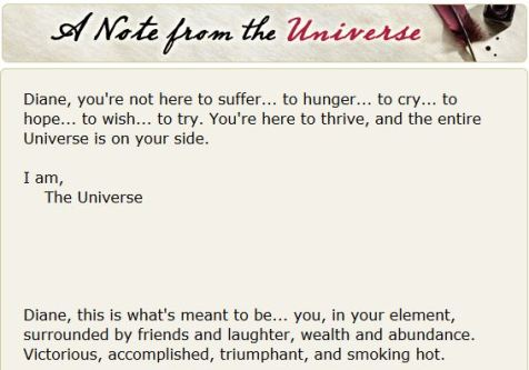 Note from the Universe 10-9-14