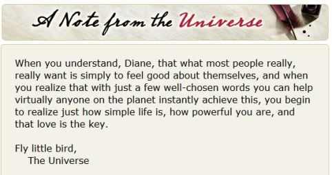 Note from the Universe