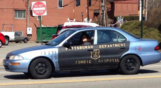 zombie disposal car