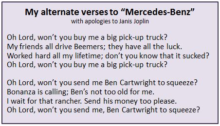 Alternate verses to Mercedes-Benz