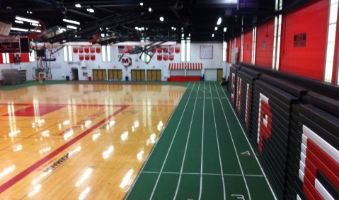 Of course we had an indoor track in the JFK Fieldhouse: this is Wisconsin!