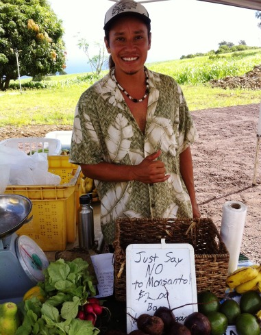 Shawn from Pali Kai Farm, part of the Hamakua Agricultural Cooperative