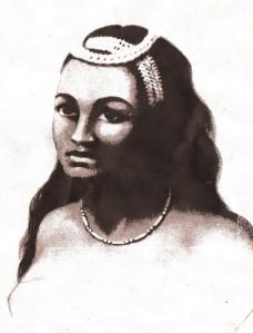 Queen Kaahumanu - Source Louis Choris 1816