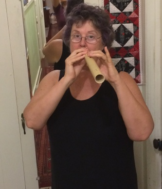 practicing my 'ohe hano ihu, the bamboo flute (for) nose at home