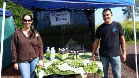 Maxwell Farm booth at Hamakua Harvest