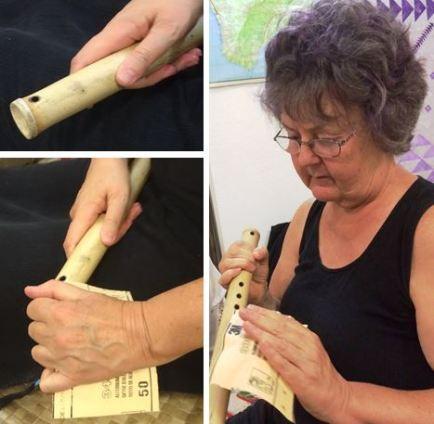 sanding my flute