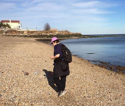 Barbara on first beach