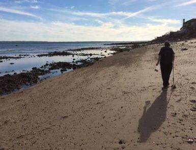 Barbara on the second beach