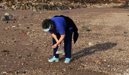 Diane at Bella's Beach