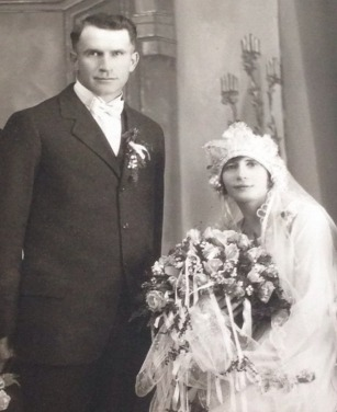 Grandma and grandpa wedding photo