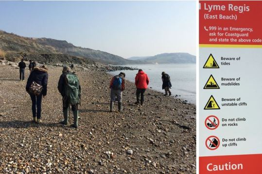 Lyme Regis east beach