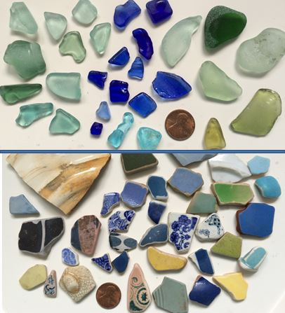 Seaglass and Shards from Lyme Regis