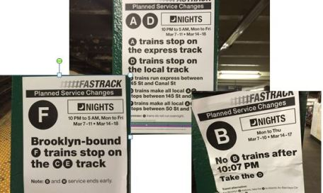 subway changes at night
