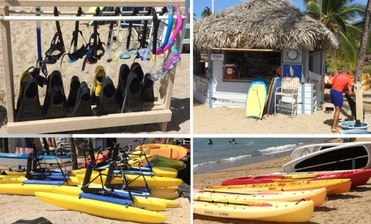 water sports rental gear