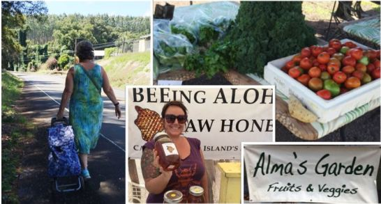 walk to market - buy Alma's veggies and Shannon's honey