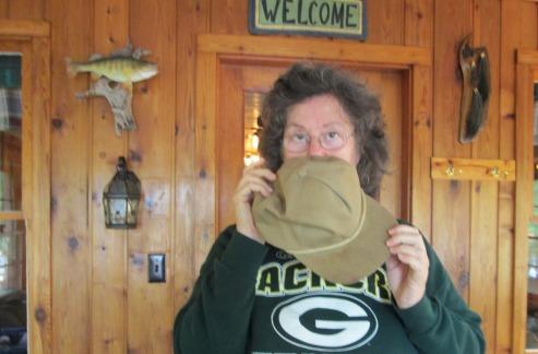 BJ - smelling dad's hat