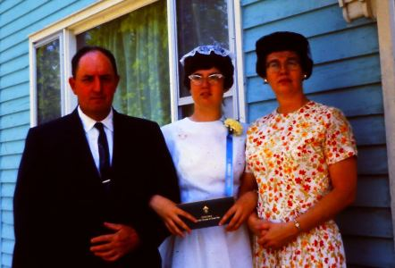 Confirmation - me with mom and dad