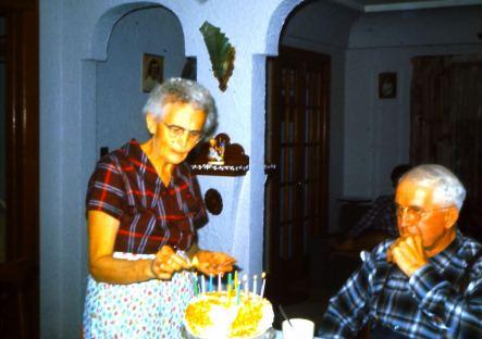 grandma grandpa in the house he built