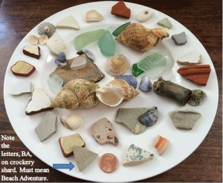 All of the finds from Margate Beach