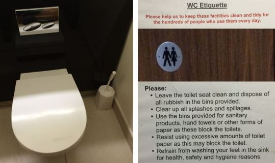 washroom etiquette