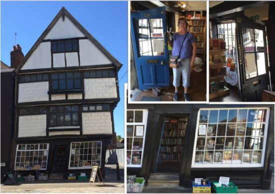 crooked bookstore in Canterbury