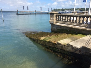 steps to the water in Cowes, Isle of Wight