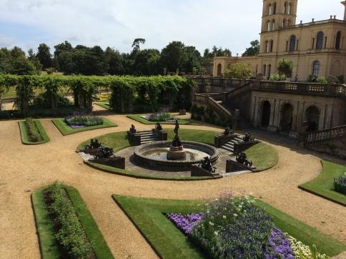 formal garden behind Osborne House