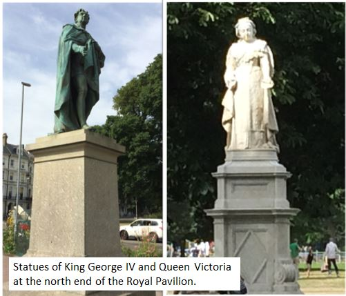 Statues of George IV and Queen Victoria