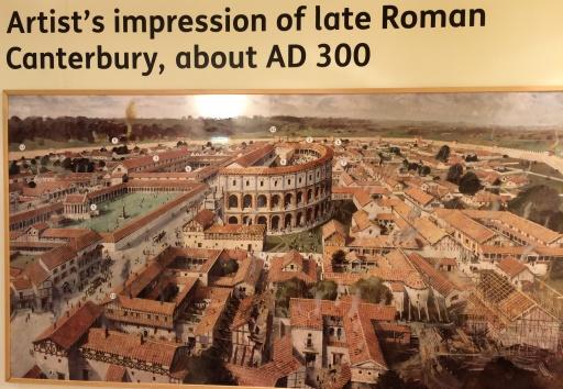 Artist's representation of Roman Cantrbury