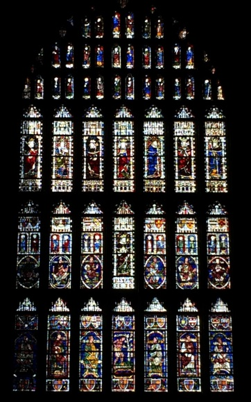 stained-glass window in Canterbury Cathedral