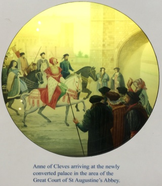 Anne of Cleves arriving at her apartments at the former St. Augustine's Abbey